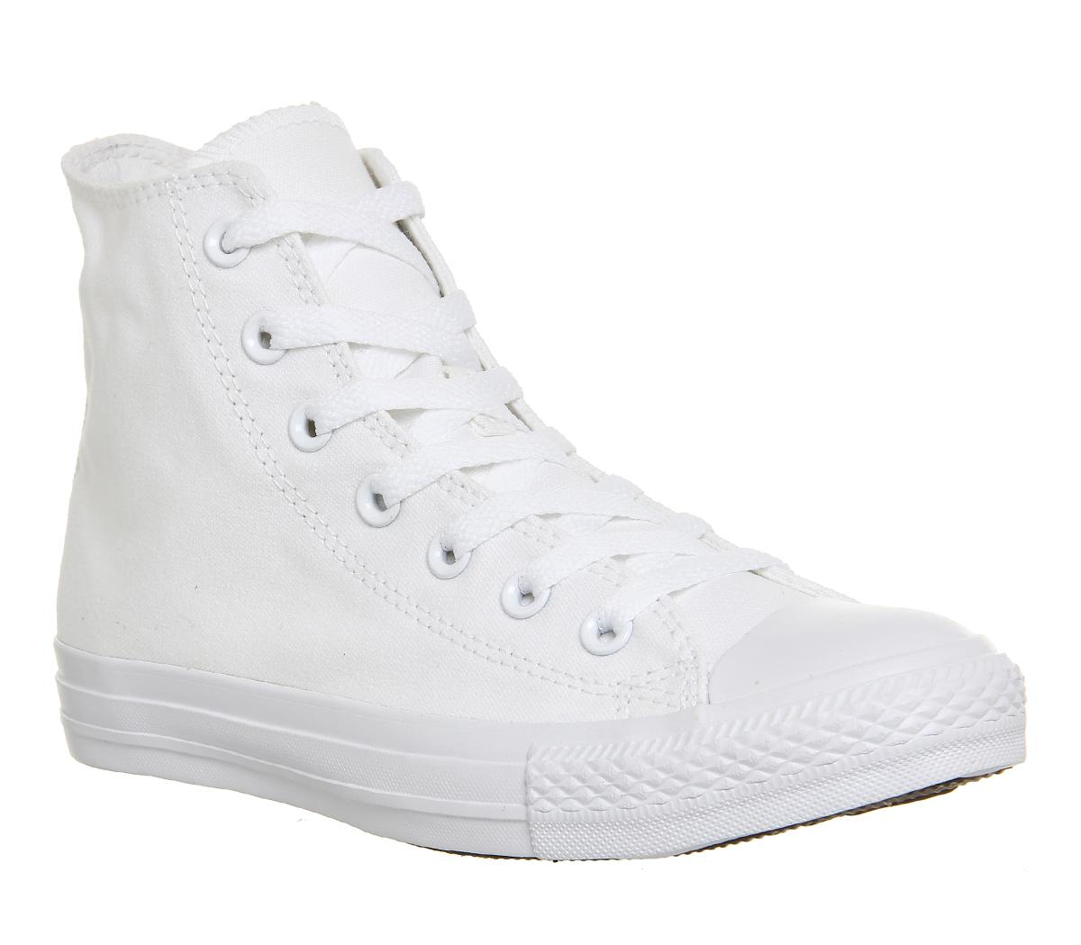all white converse high tops