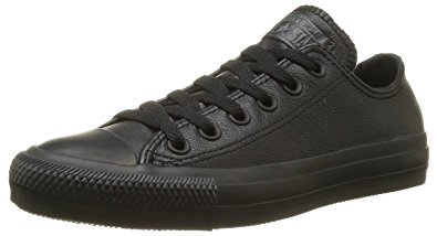 black leather converse womens