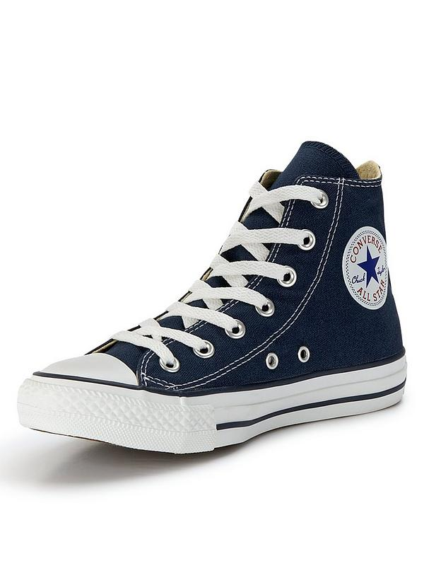 navy converse high tops